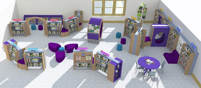 use our interactive colour swatches for great school library design ideas and inspiration for the colour scheme of your childrens school library - Library Design Ideas