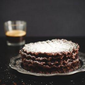 Waffle brownies al cioccolato. Condivisa da: http://www.oggipanesalamedomani.it