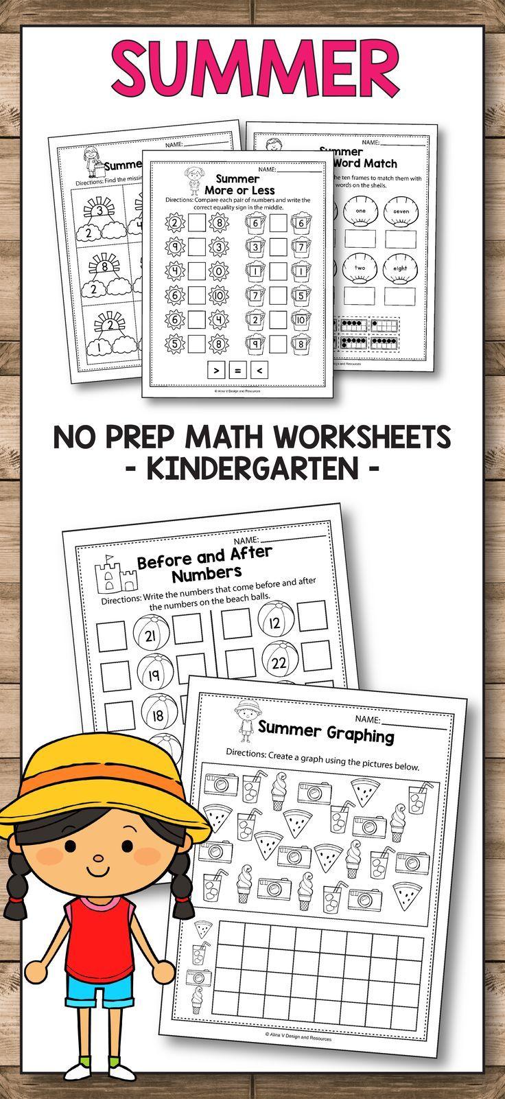writing worksheets for kindergarten