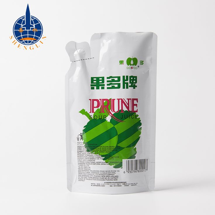 Custom printing clear plastic juice drink pouch bags straw