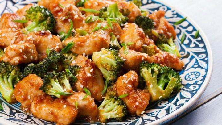 Healthy Chinese honey chicken
