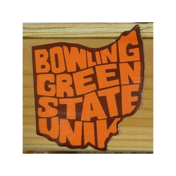Bowling Green State University bumper sticker decal design type listing at https://www.etsy.com/listing/499942271/bowling-green-state-university-ohio-bgsu
