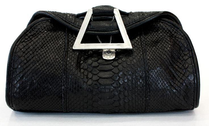 """LA PICCOLA"" Python leather and silver 925 BAG - brand DANIELE BASTA"
