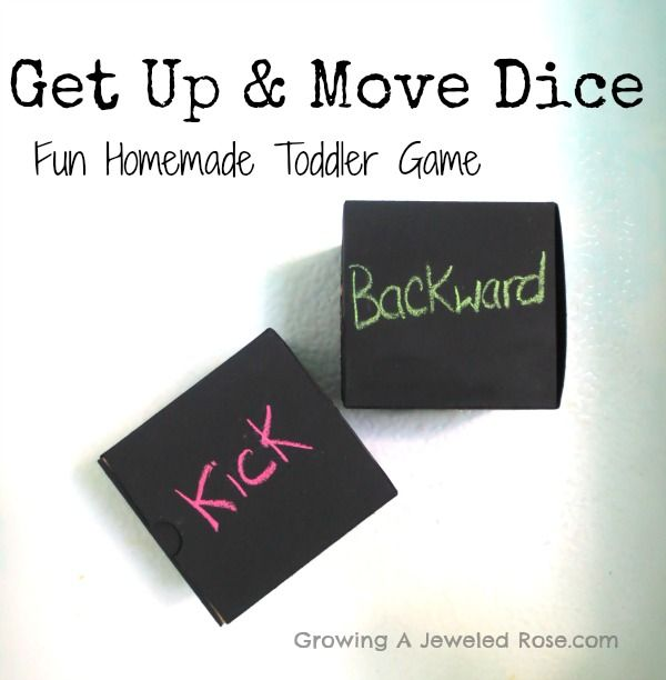 """33. Make a set of these """"Get Up and Move"""" dice to encourage physical activity. Once they're made, kids can play with them anytime."""
