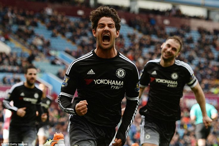 Alexandre Pato wields away in celebration having scored his first goal on debut against Aston Villa