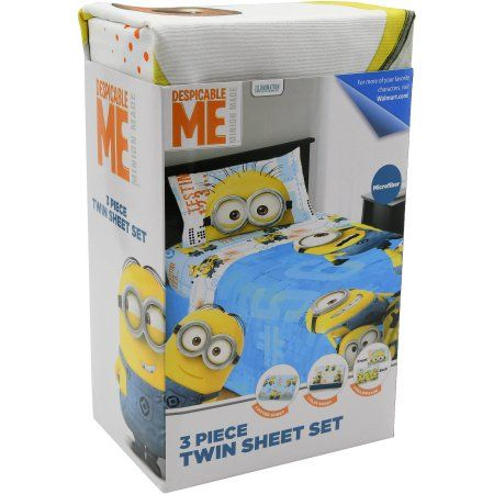 Despicable Me Minions Testing 1,2,3,4 Kids Sheet Set