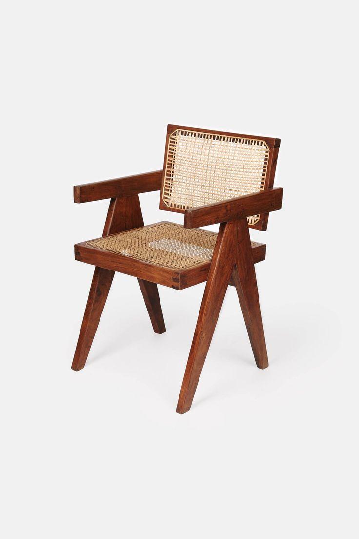 Chandigarh Office Armchair by Pierre Jeanneret
