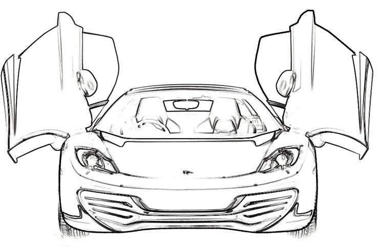 Ferrari Mp412 Italia Coloring Page Ferrari Car Coloring