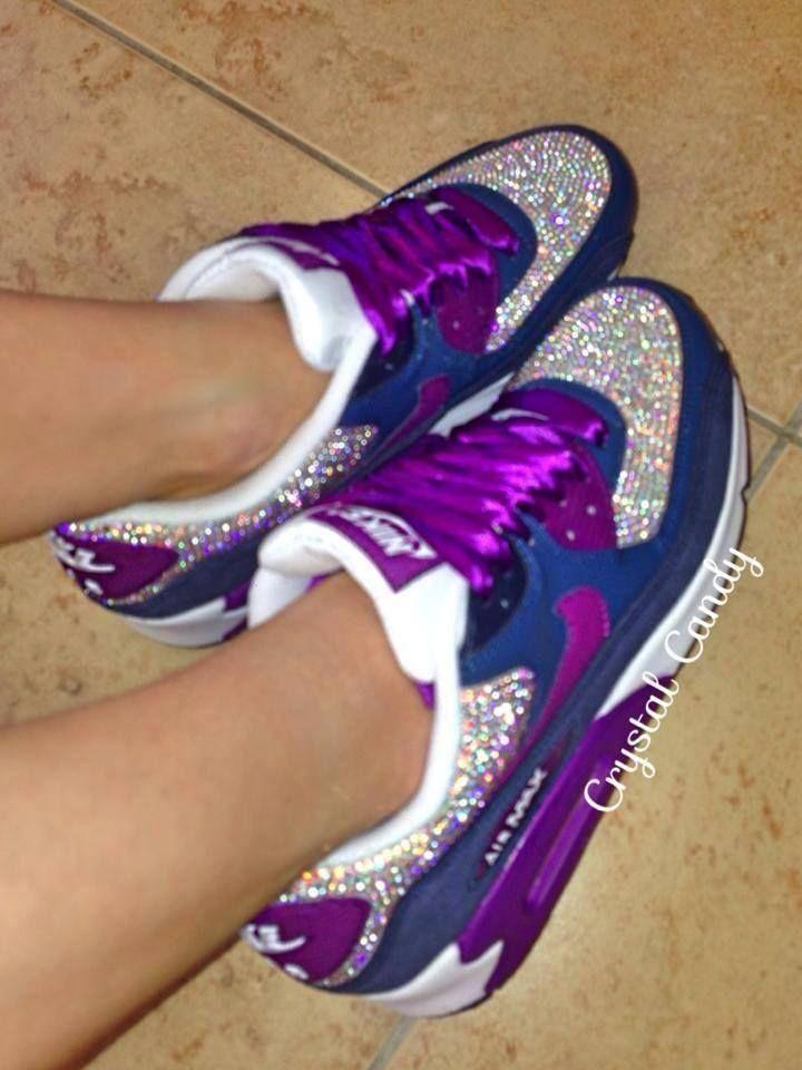 Purple Swarovski Nike Air Max 90's