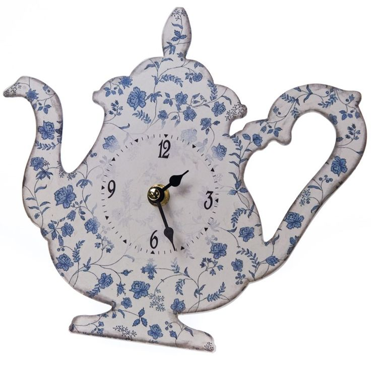Tea Kettle Clock | Collections | Blue and White - Cracker Barrel Old Country Store