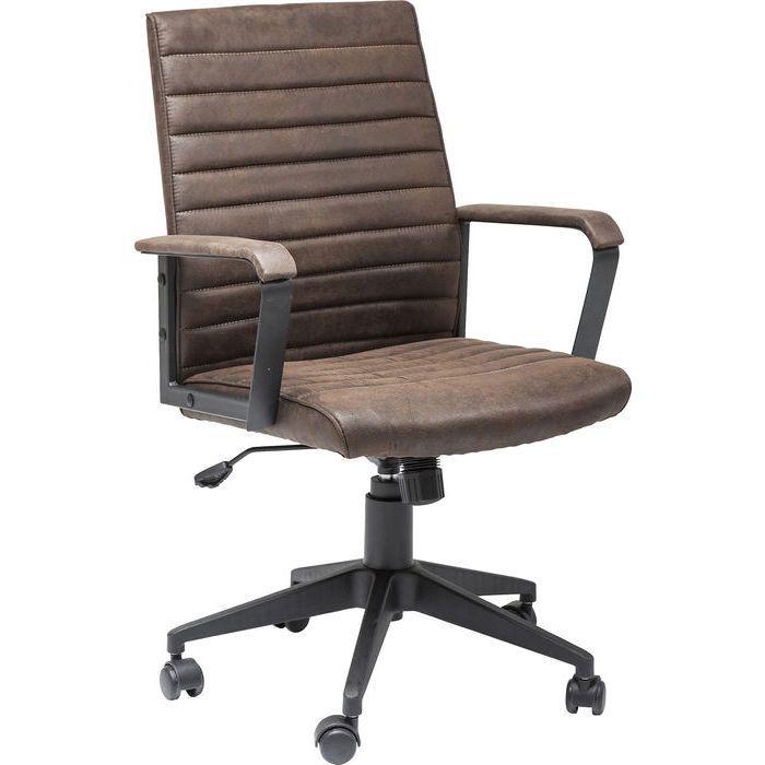 Καρέκλα Γραφείου Labora Κομψή, περιστρεφόμενη καρέκλα ιδανική για την καθημερινή εργασία γραφείου με αναπαυτικό κάθισμα με επένδυση από πολυεστερικό ύφασμα με τεχνητή παλαίωση  και εργονομική βάση από χάλυβα με ηλεκτροστατική βαφή . Ρυθμιζόμενο ύψος 47-67 εκατοστά