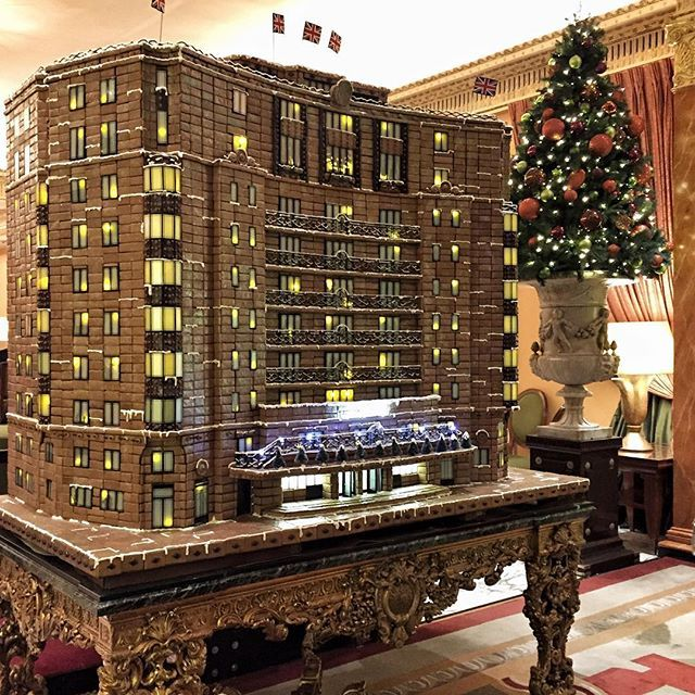 """THE DORCHESTER HOTEL, Parklane, London, UK, """"The 5 Star gingerbread replica of The Dorchester Hotel... If only you could smell this', pinned by Ton van der Veer"""