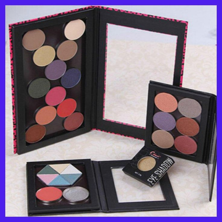 2 Pieces / Lot,Extra Large Makeup Palette Customizable MAGNETIC COSMETIC Z PALETTE EYE SHADOW EMPTY BLANK TRAY DIY MAKE UP TOOLS