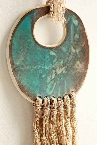 Cathy Callahan X Mt. Washington Pottery Ceramic + Fiber Wall Hanging - Urban Outfitters