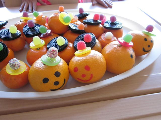 mandarijnen met een snoephoedje