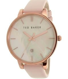Ted Baker Women's 10026423 Pink Leather Quartz Watch