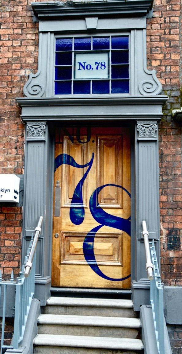 Door to 'The Brooklyn Mixer' in Liverpool, England