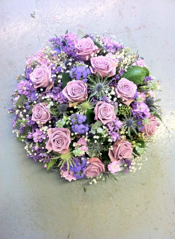 Stunning vintage mauves posy Pad from the Funky Florist Andover