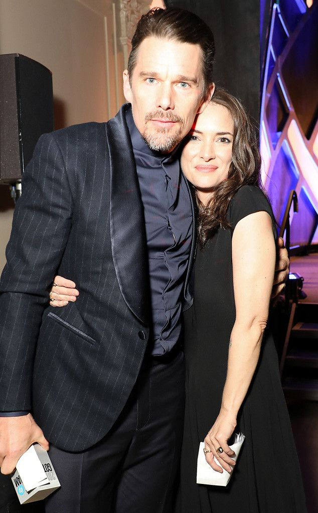 Ethan Hawke & Winona Ryder from The Big Picture: Today's Hot Pics  Reality Bites! The old friends reunite at Gotham Independent Awards in Los Angeles.