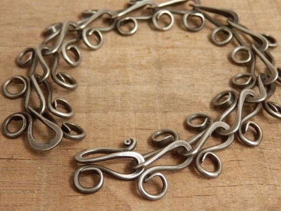 This would make a great gift for anyone! Steel Bracelet Hand Forged Link Chain from Jeanine Designs, our favorite designer.