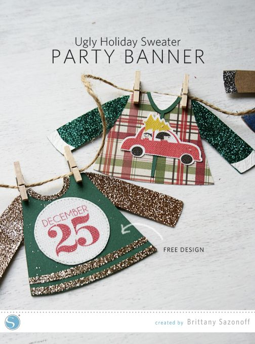 Silhouette America Blog | Ugly Holiday Sweater Clothesline Banner