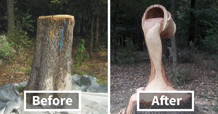 Romanian artist uses chainsaw to turn trees into sculptures - https://www.deviantworld.com/art/romanian-artist-chainsaw-trees-sculptures/