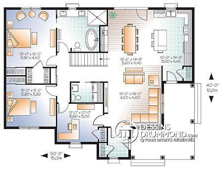 Détail du plan de Maison unifamiliale W3108-V3