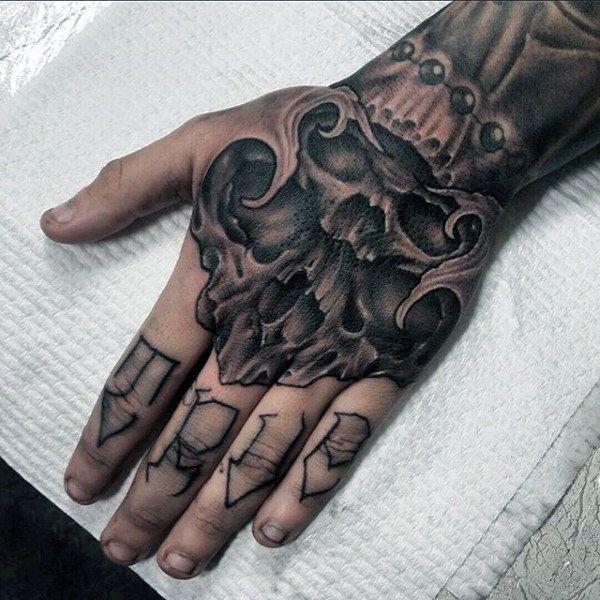 22 Best Hand Skull Tattoos For Men Images On Pinterest