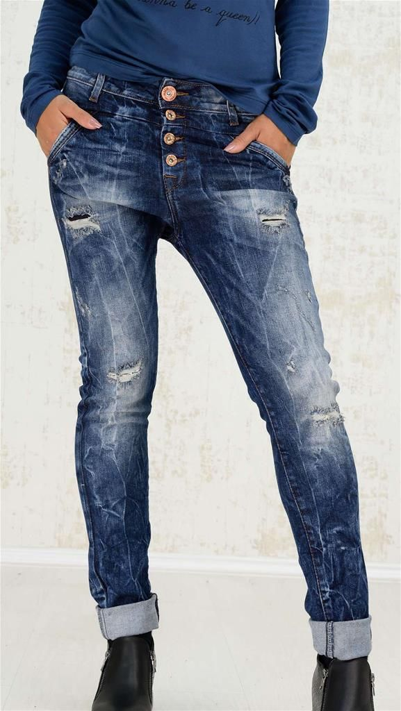 Blue jeans παντελόνι με σκισίματα   Χειμερινή Collection 2016   Potre - 49,9 €