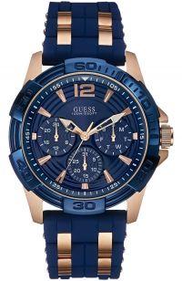 GUESS Horizon Blue Leather Chronograph W0380G5 - E-oro.gr GUESS ΑΝΔΡΙΚΑ ΡΟΛΟΓΙΑ