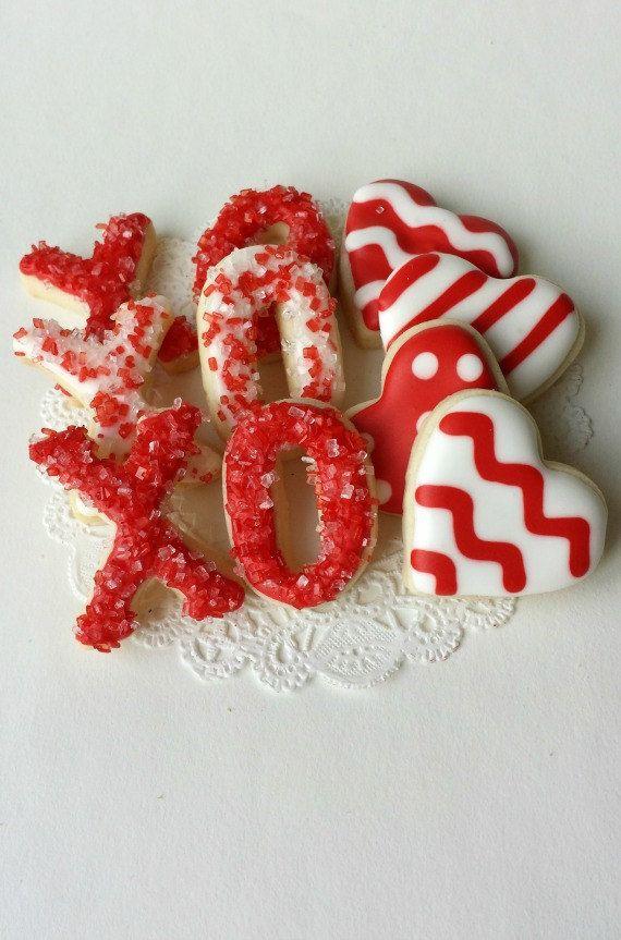 Valentine's Day Mini Cookies - XO - Hugs and Kisses - Heart