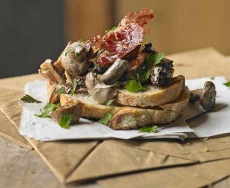Mushrooms on toast recipe