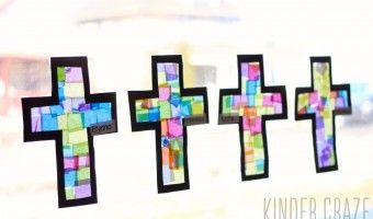 Stained Glass Cross Lenten Craft for Kindergarten