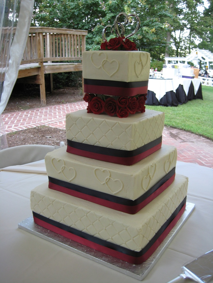 square wedding cakes with ribbon and flowers 95 best images about wedding cakes on 20429
