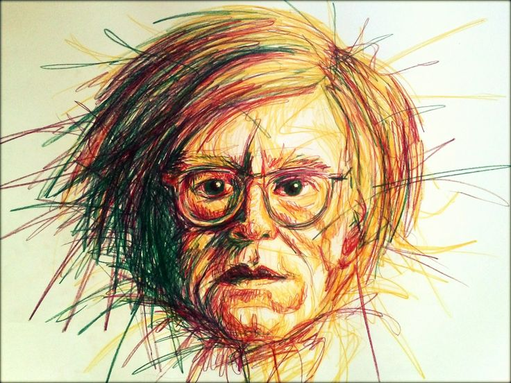 Andy Warhol #scribbled in colour# A1