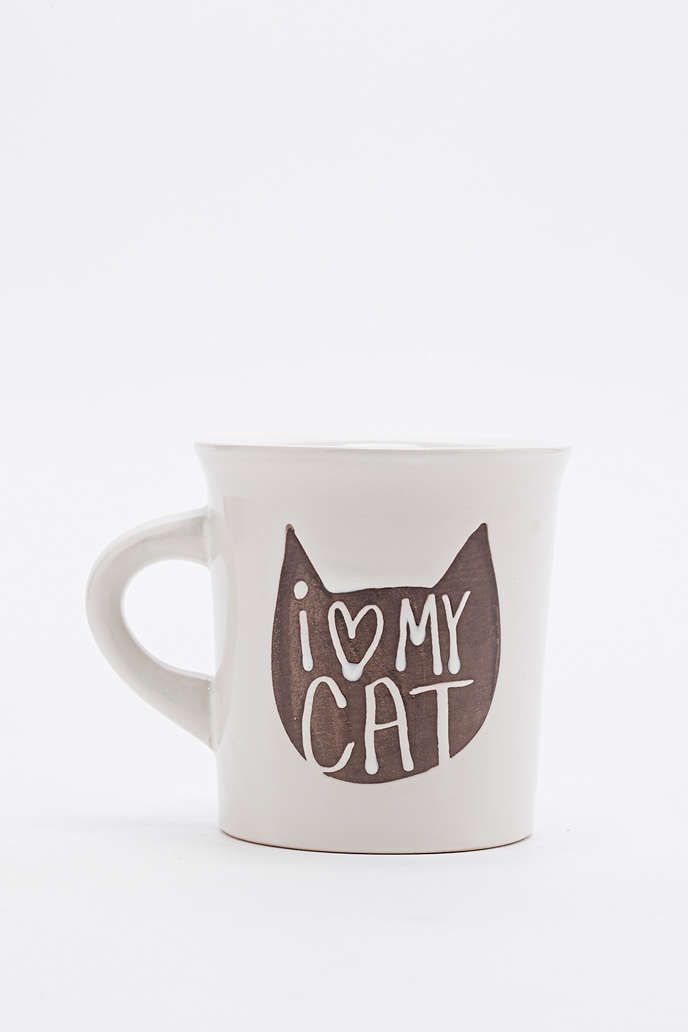mug cat mug birthday wishlist cat lady home kitchens urban outfitters ...