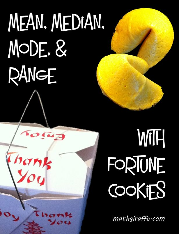 Blog post:  Mean, Median, Mode, and Range with Fortune Cookies