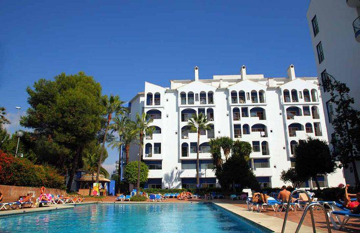 Swimming pool area, Hotel PYR Marbella, Puerto Banus, Marbella, Spain, Andalucia, Golf,