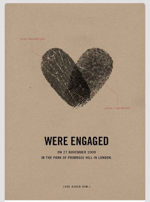 Great announcement of your engagement! So need to do this!