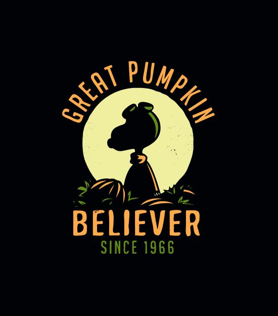 """This epic shirt is back by popular demand. """"Great Pumpkin Believer"""" halloween t-shirt. SnorgTees makes super soft, comfy tees and hoodies for men, women and kids.  Discover your favorite shirt today!"""