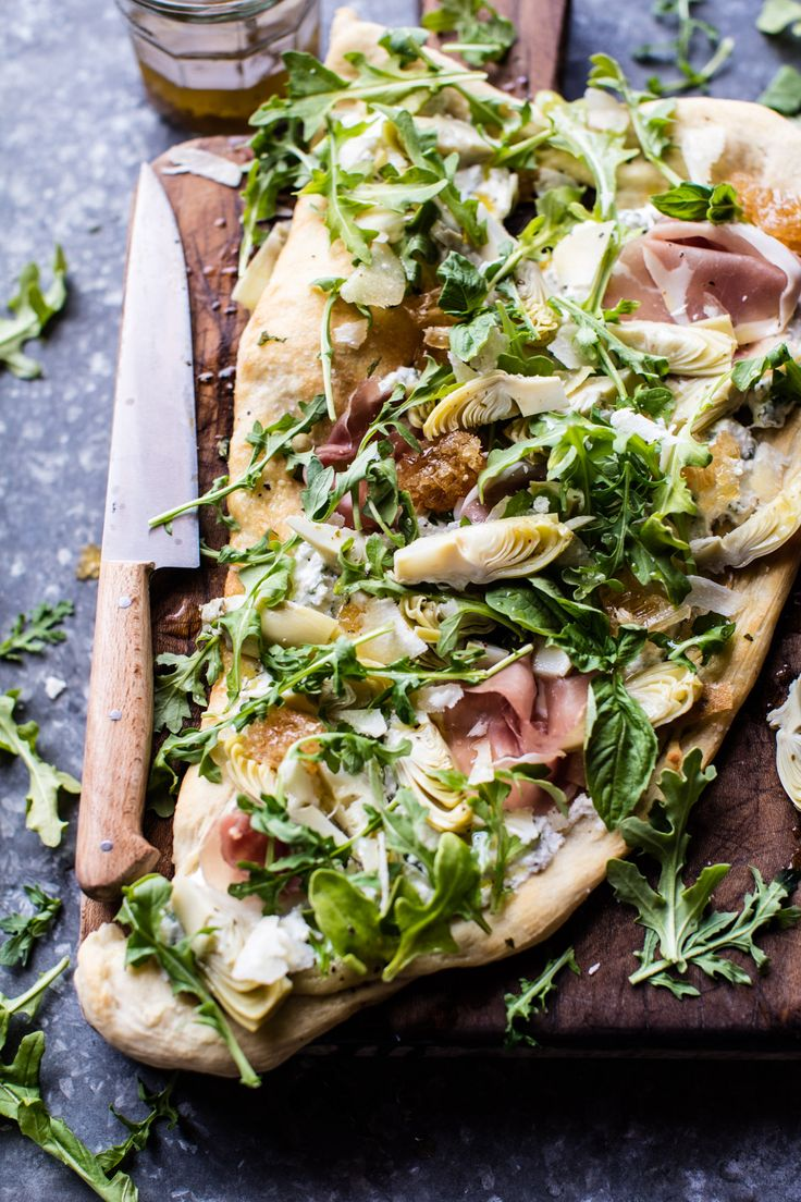 Artichoke Ricotta Flatbread - easiest recipe of the month, prefect for mother's Day, and SO delicious! From halfbakedharvest.com