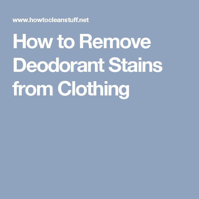 25 best ideas about remove deodorant stains on pinterest