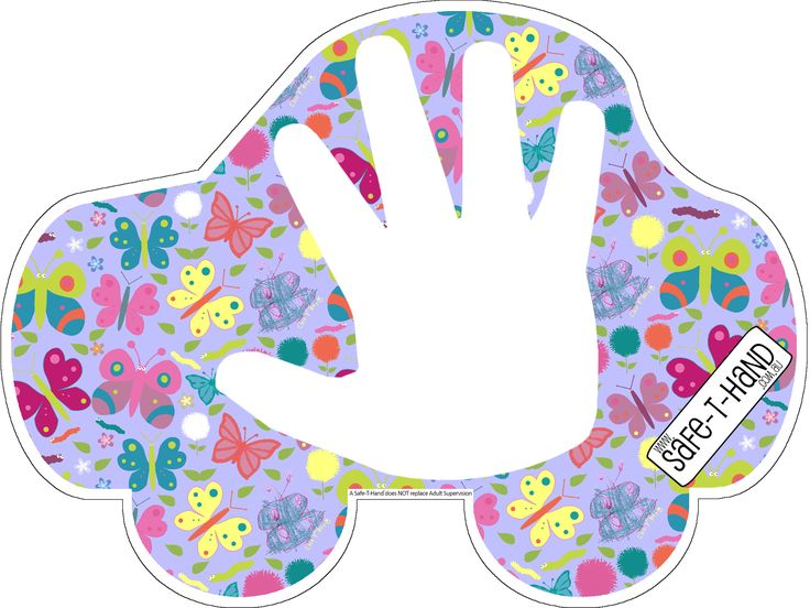 A 'Butterflies' Safe-T-Hand car Magnet is $29.97. #road #safety #teaching #tool #butterflies #magnet #fun #purple #pink #educate #learn #parents #educators www.safethand.com.au