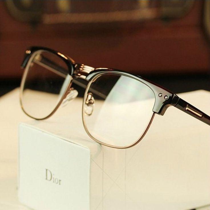 2016 Hot Optical Coating Lenses Anti-radiation Metal Half Rim Glasses Frame Spectacle Eye Glasses Frames Myopia Eyeglasses Frame