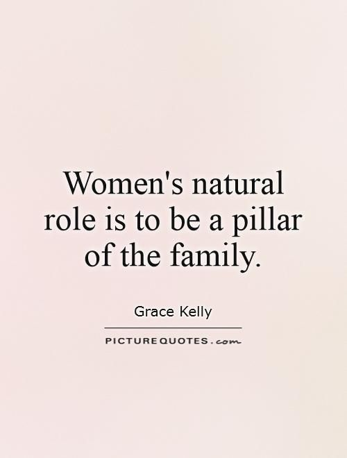 Quote: Grace Kelly But it's nice to have the family be a pillar for you when needed.