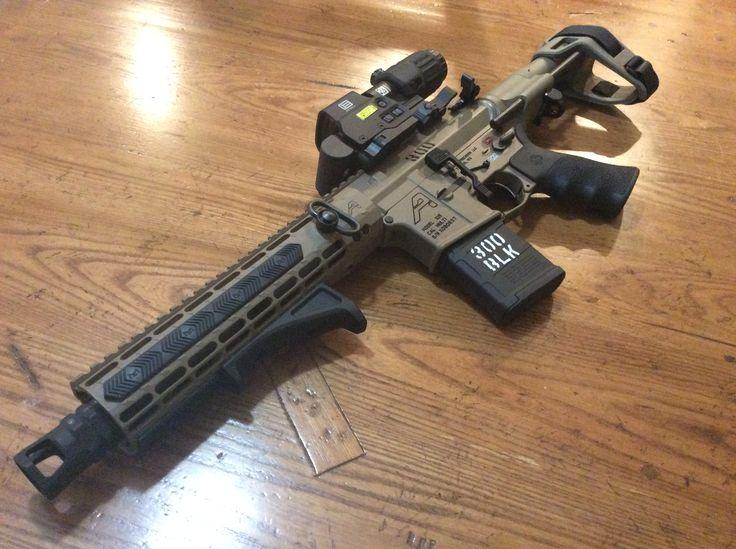 "300 blackout  Pistol Aero precision upper and lower with 10.3"" Ballistic Advantage premium Barrel. SB Tactical brace. Eotech holographic and magnifier. Geissele trigger."