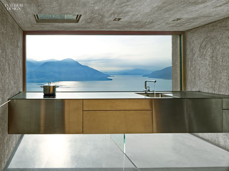 A View To A Thrill: Swiss Alps Bring Drama to Vacation House by Wespi de Meuron…