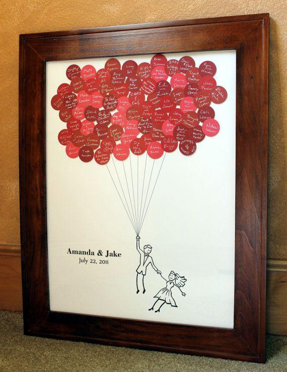 Hochzeit Gast Buch Ballons für bis zu 75 von SayAnythingDesign