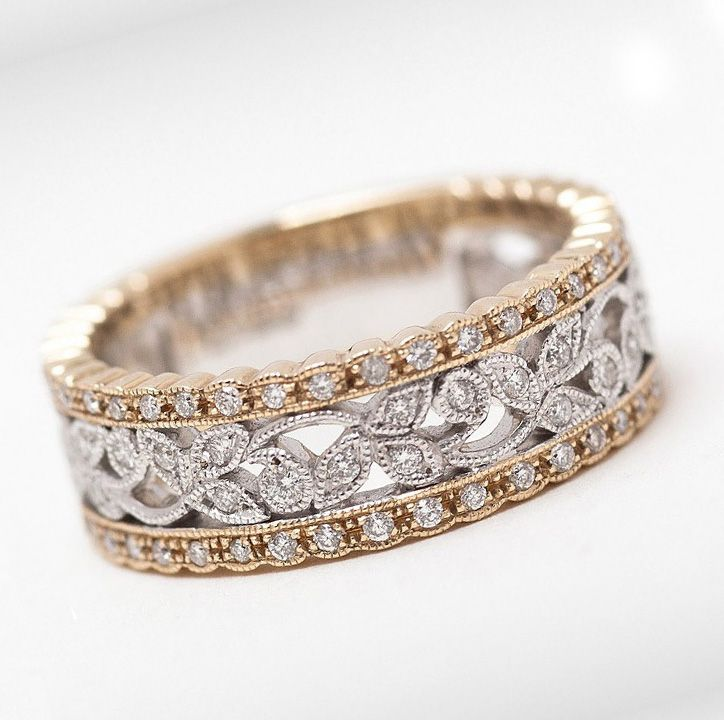 vintage eternity diamond rings gold - Google Search