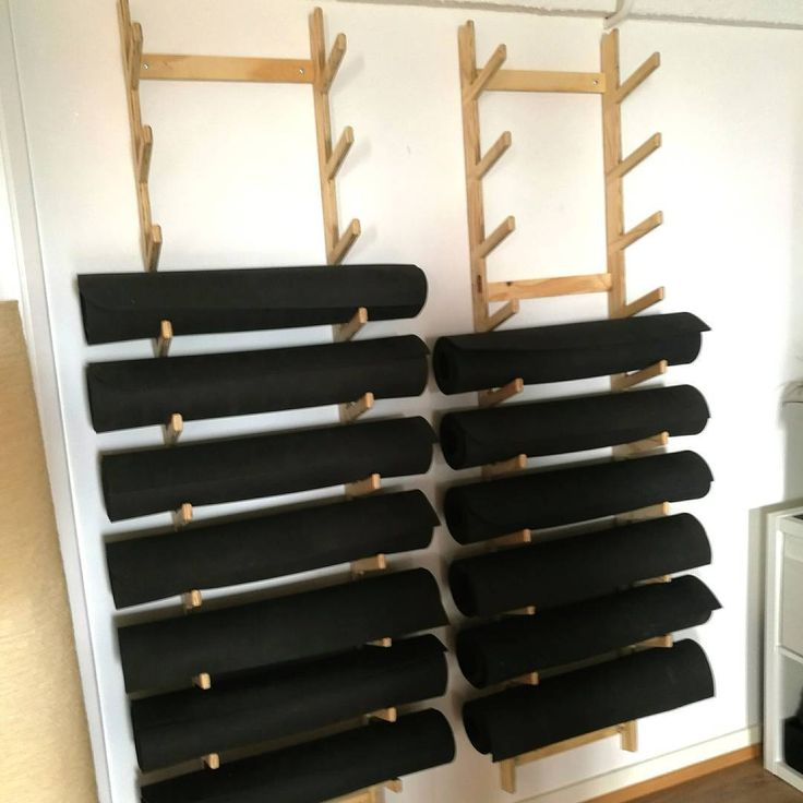 Plywood Yoga Mat Storage At The Kali Collective Yoga